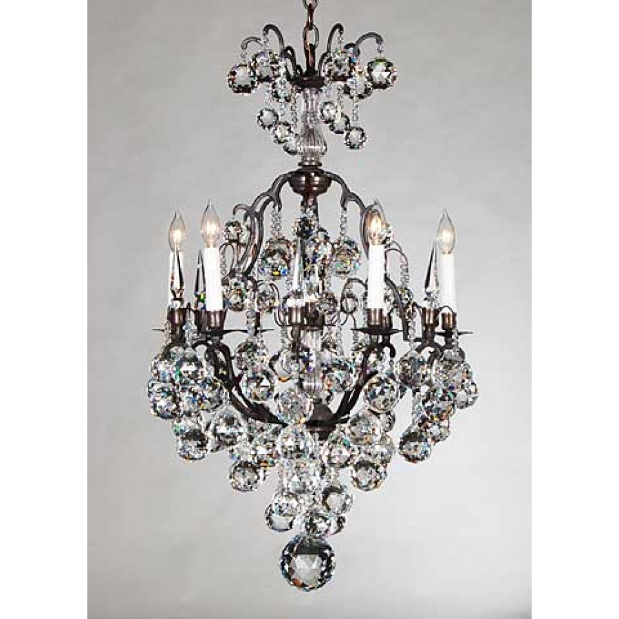 Versailles Chandelier with Faceted Crystals