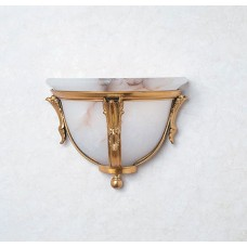 Bronze Wall Sconce with Alabaster