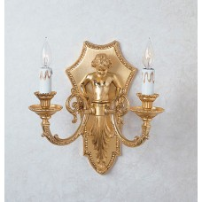 Bronze Caryatid Wall Sconce