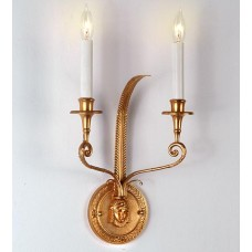 Bronze Wall Sconce Gold Finish