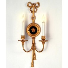 Bronze Wall Sconce Gold Finish with Black