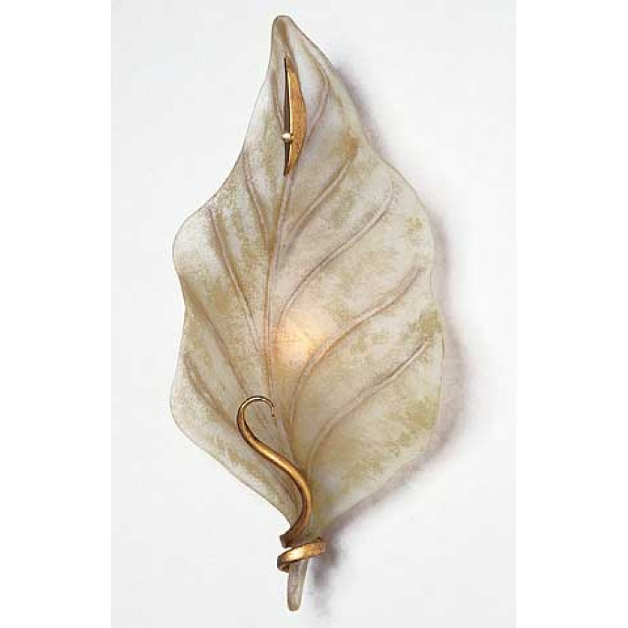 Murano Art Glass And Iron Wall Sconce
