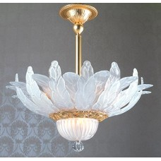 Satin Murano Flush Mount