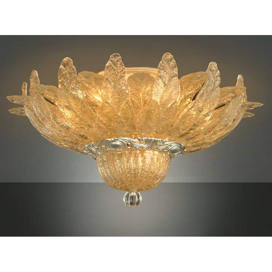 Murano Flush Mount Gold Murine