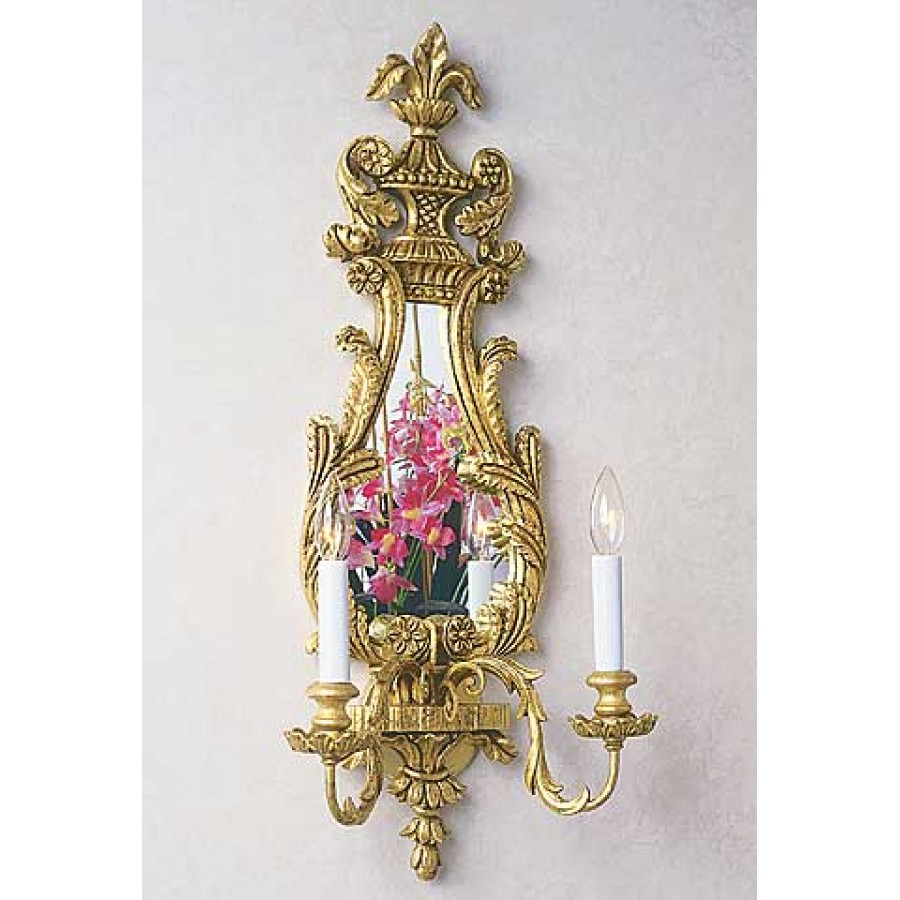 Hand Carved Wood English George III Sconce