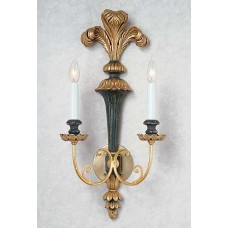 Carved Wooden Sconce with Plummage