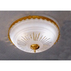 Ceiling Mount with Cut French Glass