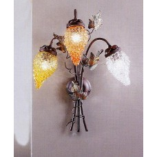 Iron And Glass Wall Sconce