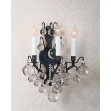 Versailles Wall Sconce with Crystal Spheres