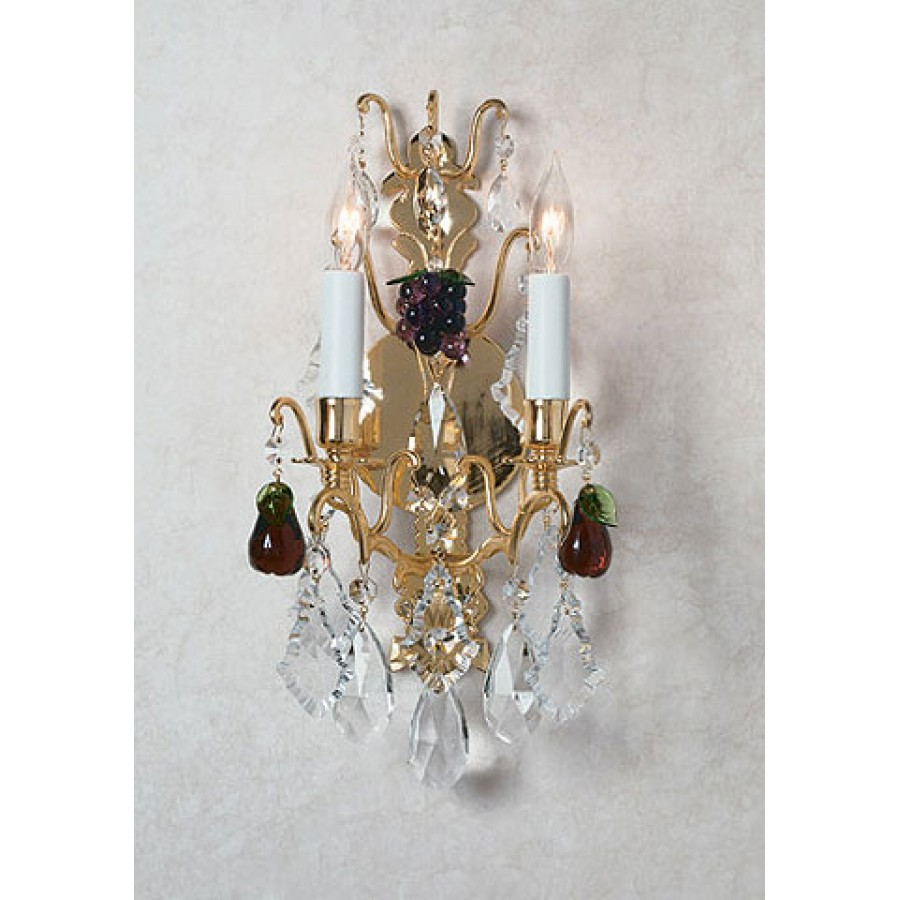 Versailles Sconce with Crystal Fruit
