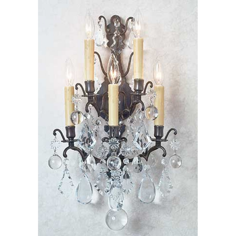Versailles Sconce with Traditional Crystals