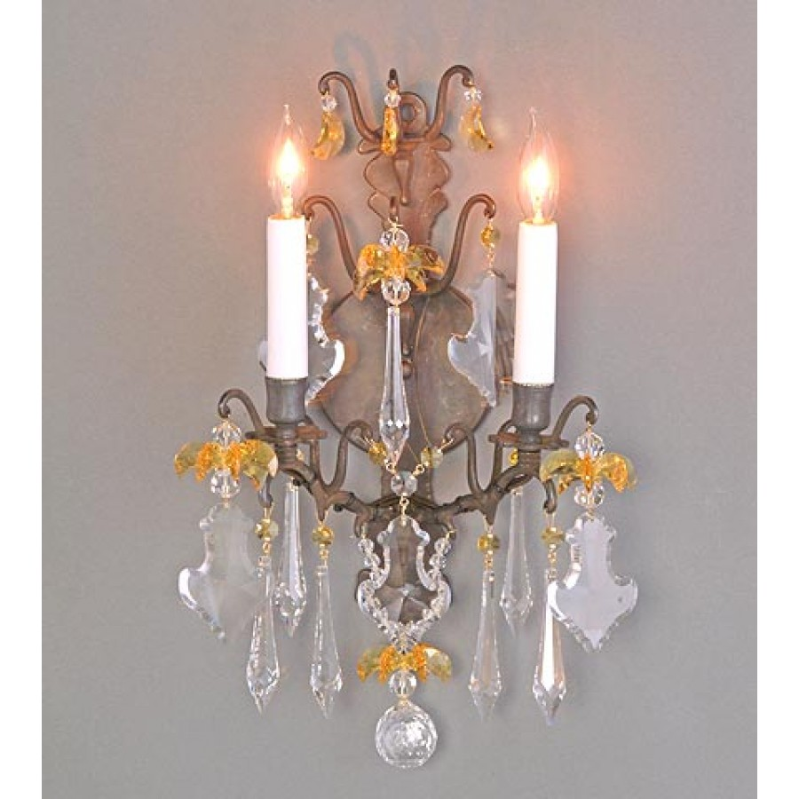 Versailles Wall Sconce With Swarovski