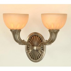Casted Wall Sconce with Alabaster Globes