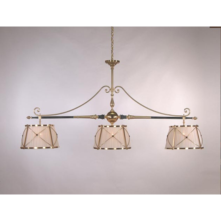 Bronze Billiard Light with Three Shades