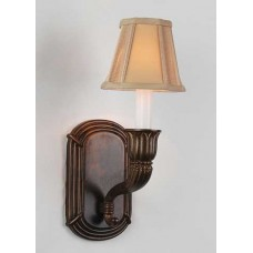 Sand-cast bronze wall sconce