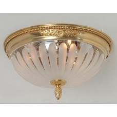 Bronze and Glass Flush Mount