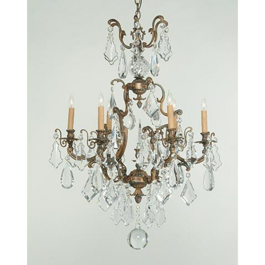 Sand Cast Bronze Chandelier