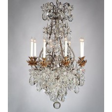 Overdressed Iron Chandelier with Leaves