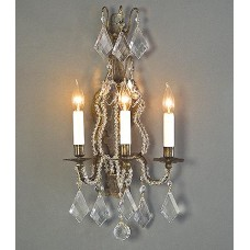 Bronze Wall Sconce with Beading
