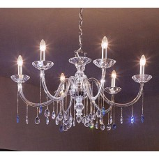 Murano Glass Chandelier with Strass