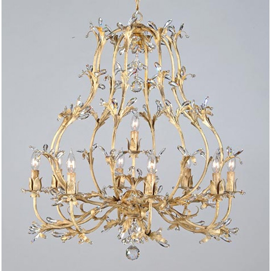 Iron Chandelier with Swarovski Strass
