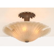 Art Glass Semi Flush Mount