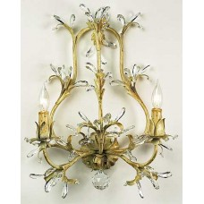 Iron and Swarovski Strass Wall Sconce