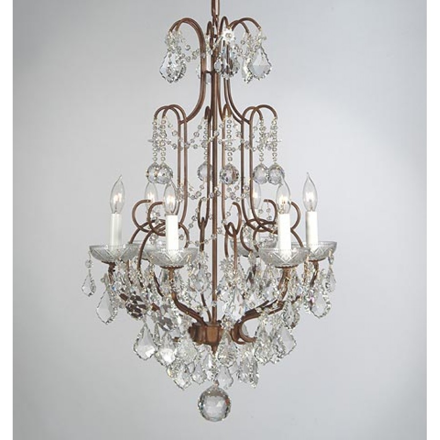 Iron Chandelier with Swarovski Crystal