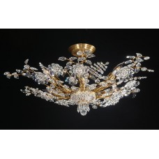 Hand-crafted Crystal Flush Mount