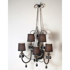 Murano Glass Wall Sconce in Black