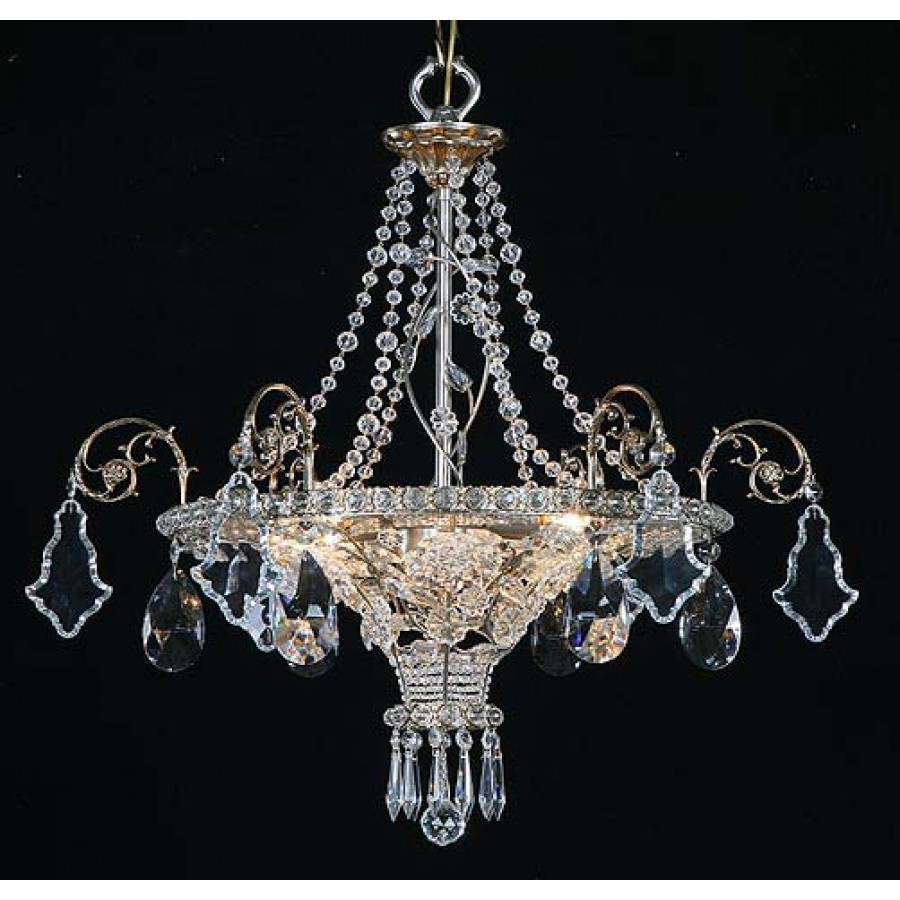 Hand-Crafted Bohemian Crystal Chandelier