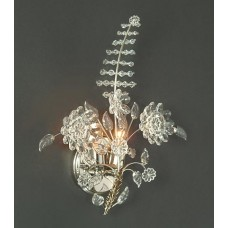 Hand-Crafted Bohemian Crystal Sconce