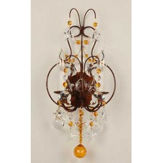 Petite Iron Sconce with Crystal