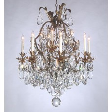 Overdressed Iron Chandelier