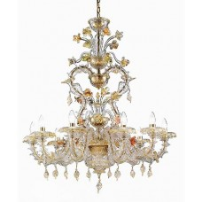 Traditional Venetian Glass Chandelier