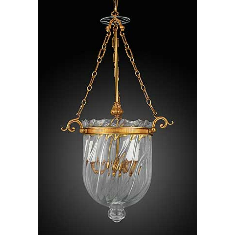Bronze Lantern with Optical Crystal