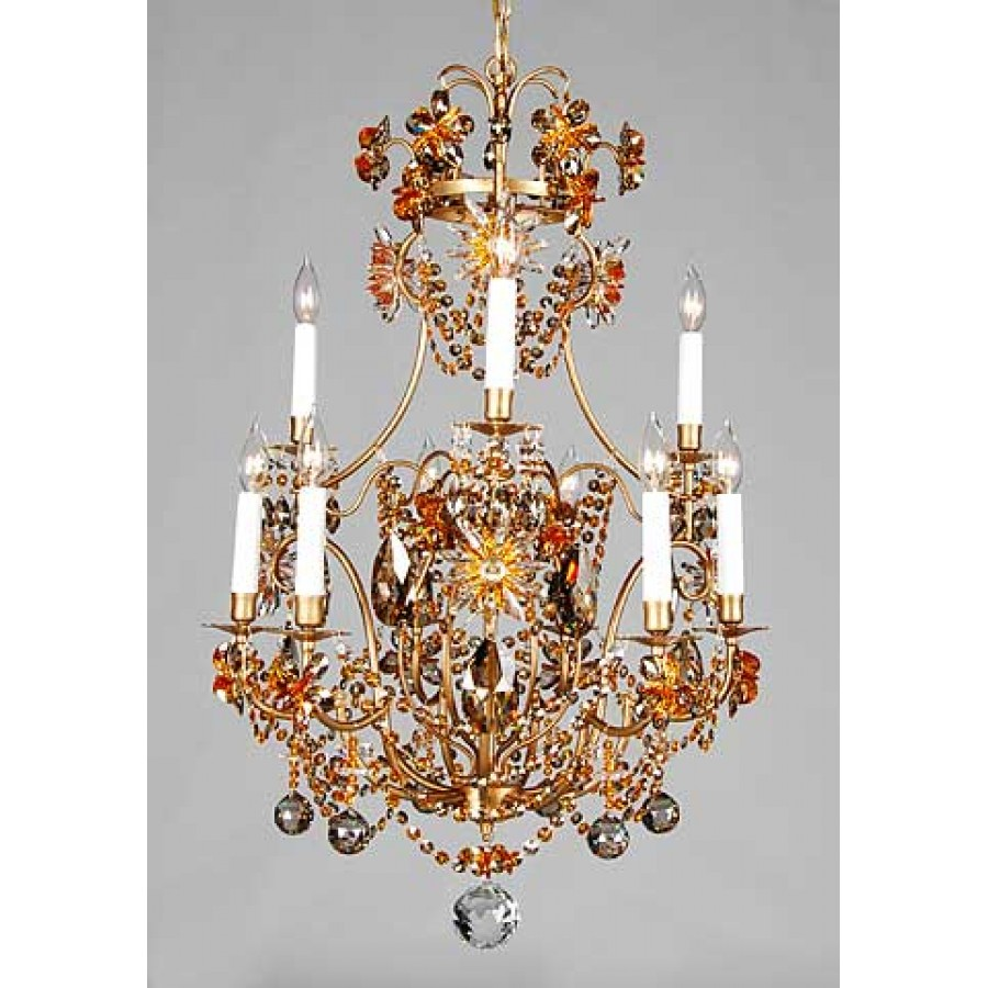 Iron Chandelier with Swarovski