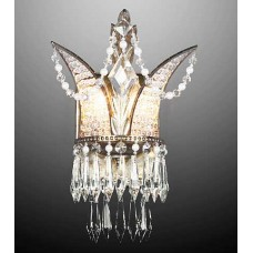 Bronze and Crystal Wall Sconce