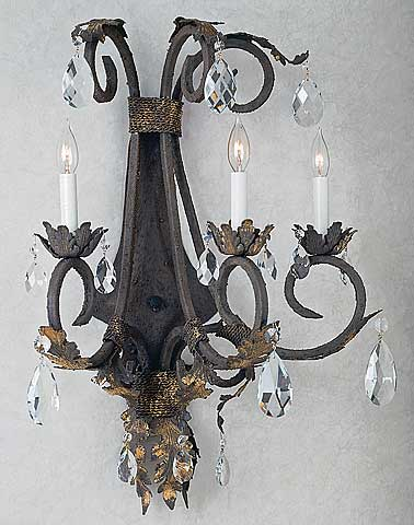 Iron sconces cardena collection iron sconce mozeypictures Gallery