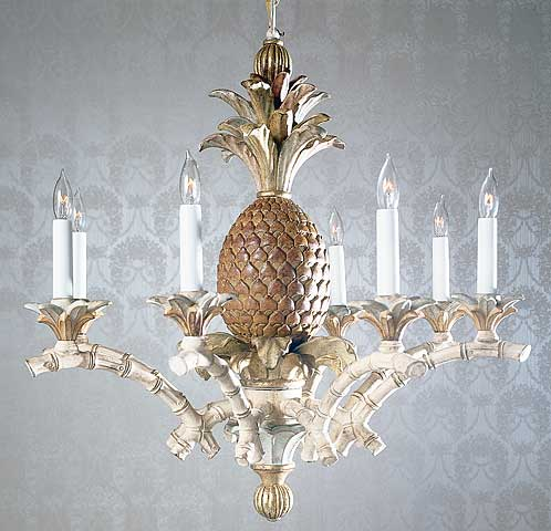 Wood chandeliers hand carved wood chandelier with pineapple mozeypictures Gallery