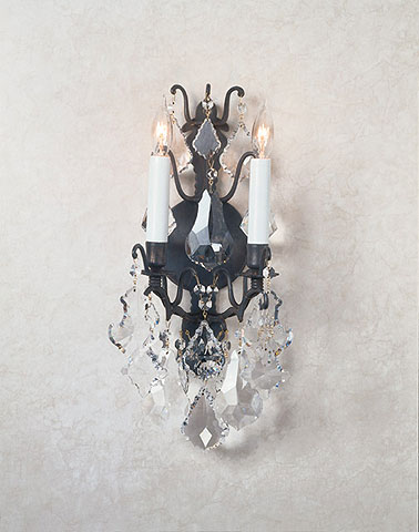 Crystal sconces versailles wall sconce with swarovski strass mozeypictures Gallery