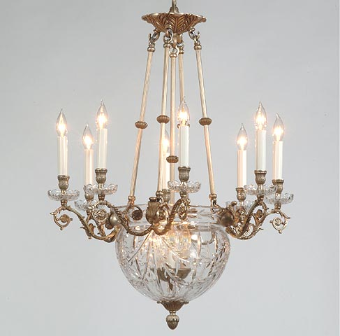 Bronze chandeliers 24 lead hand cut crystal and bronze chandelier mozeypictures Gallery