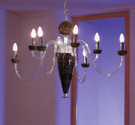 Murano chandeliers chrome and art glass chandelier mozeypictures Image collections