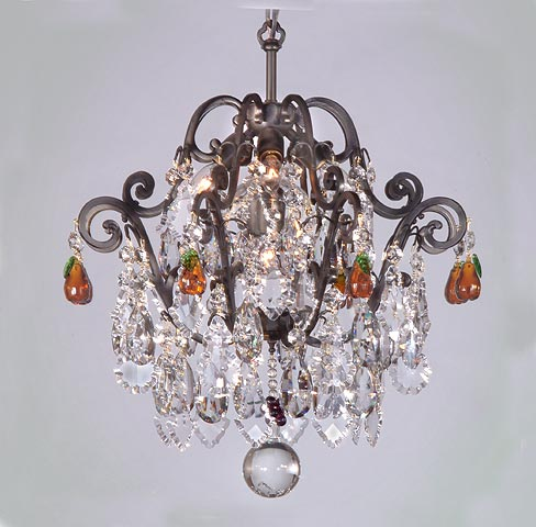 Crystal ceiling lamps versailles semi flush fruit chandelier aloadofball Choice Image